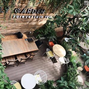 các quán cafe san vườn phải đến ở sài gòn